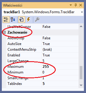 TrackBar visual studio c#